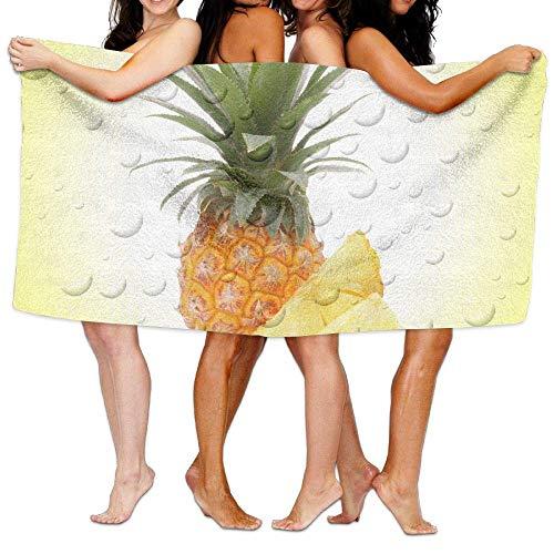 Laohujia Beach Pool Custom Bath Towels Funny Pineapple and Bubble Super Absorbent Microfiber (Super Bubble Bath)