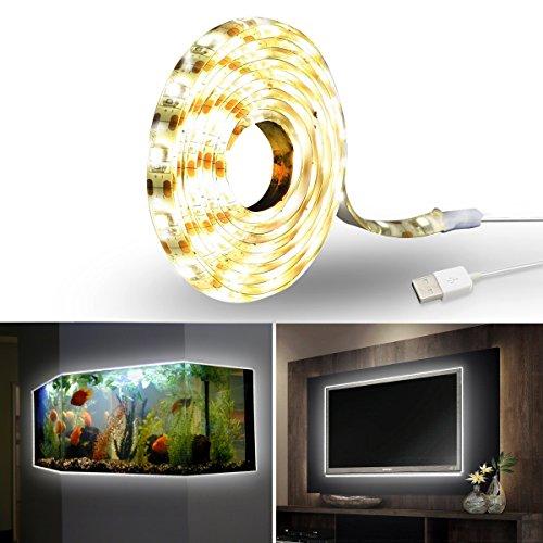 iras Iluminación de Sesgo, 150cm 5V USB LED retroiluminación Luz kit para...