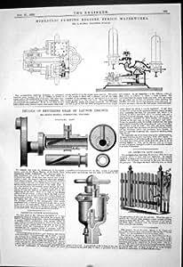 Construction de l'Emboutage de Pompage Hydraulique de Zurich Waterworks Schmid de 1880 Moteurs