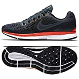 NIKE Damen WMNS Zoom Pegasus 34 Laufschuhe, Grau (Blue Fox/Black / Bright Crimson/White 403), 40.5 EU
