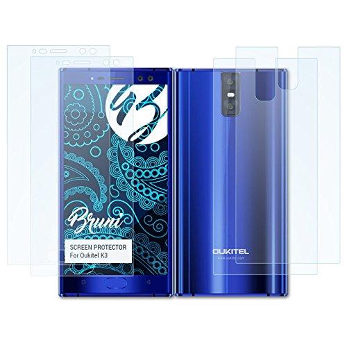 Bruni Schutzfolie kompatibel mit Oukitel K3 Folie, glasklare Bildschirmschutzfolie (2er Set)
