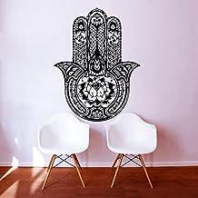 Vinilos decorativos Yoga Fátima Mano de Hamsa indio Ganesh Buda Lotus Adhesivos de vinilo etiqueta de la decoración del dormitorio del hogar Estudio de Arte MN416