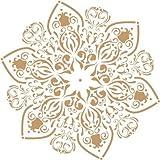 Stencil Deco Adamascado 069 Roseton. Medidas aproximadas: Medida exterior del stencil: 20 x 20 cm Medida del diseño:18 x 17,3 cm