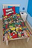 Marvel Comics Defender 2-tlg Bettwäsche mit Wendemotiv Bettbezug 135 x 200 cm Kissenbezug 48 x 74 cm