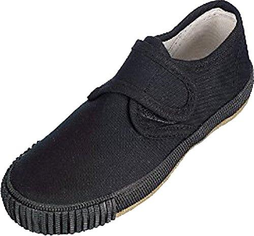 Unisex-Erwachsene Schule PE Gym Sport Trainer Pumpen Plimsolls Schuhe Schwarz, schwarz (Schwarze Pumpe Erwachsene Schuhe)