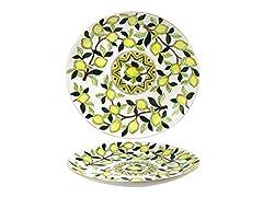 Idea Regalo - Home Limoni Centrotavola, Ceramica, Bianco/Verde