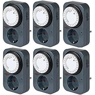 Brennenstuhl Mechanische Zeitschaltuhr Tageszeitschaltuhr (6, black)