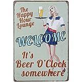 20x30cm Placa Chapa Cartel Póster de Pared Metal Arte Decoración para Bar de Cerveza Cafetería # 7