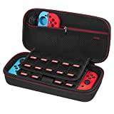 Picture Of Nintendo Switch Case - Younik Upgrade Version Hard Travel Carrying Case with Larger Storage Space for 19 Game Cartridges, AC Adapter and Other Nintendo Switch Accessories