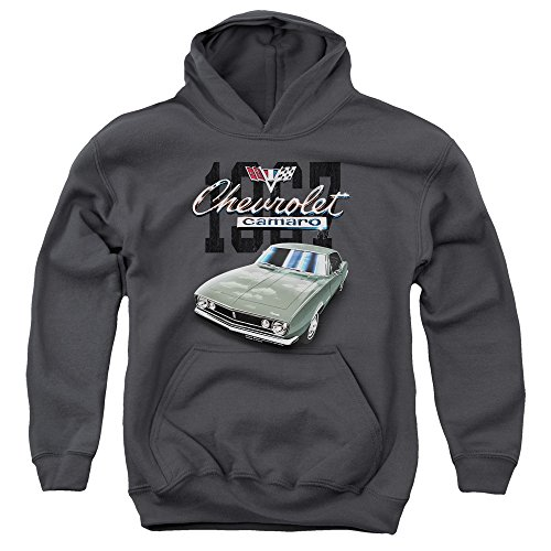 Chevrolet - - Jugend Classic Camaro Pullover Hoodie, X-Large, Charcoal (Camaro Hoodie)