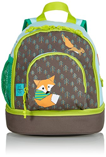 LÄSSIG Kinderrucksack Kindergartentasche mit Brustgurt/Mini Backpack Little Tree Fox -