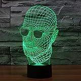 Diaporama 3D Lampe Optique 3D Illusions Night Light Interrupteur Tactile Et Télécommande Touch Desk 7 Couleurs Changer Touche Tactile Et Câble Usbilumination Caractère Avatar Creative Décoration Cade...