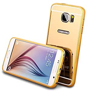 UNMCORE™ 2 In 1 Luxury Aluminum Metal Bumper Detachable + Mirror Hard Back Ultra-Thin Frame Case For Samsung Galaxy S6 Edge Plus - Gold