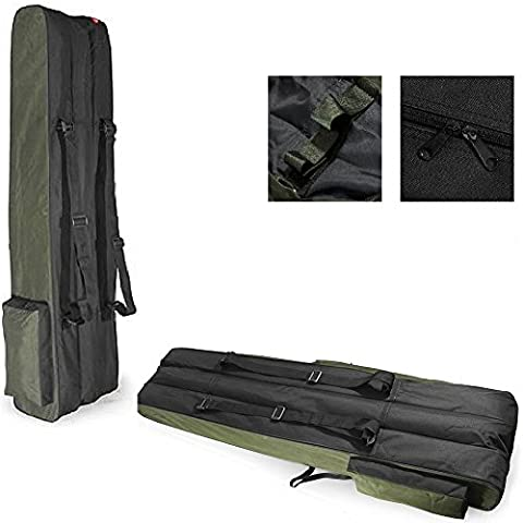Fishing Rod Holdall, Holder, Bag, Carry Case, Luggage for made up rods with reels - 150cm / 59in (THREE