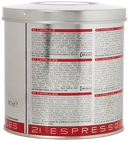 illy Classico Medium Roast Iperespresso Capsules, 141g (Pack of 1, Total 21 Capsules)