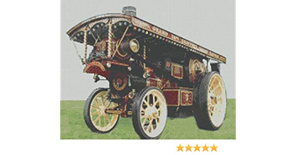 Showmans Traction Steam Engine Counted Cross Stitch Kit 14 Count