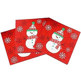 Servilletas de papel 60 Piezas Servilletas de Papel Desechables de Servilletas navideñas con Servilletas Almuerzo/Fiesta/aprox. 33×33 cm Corona navideña Ideal como regalo y mesa de decoración