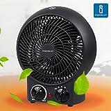 immagine prodotto Aigostar Airwin Black 33IEL - TermoVentilatore con Termostato Regolabile, Funzione Doppia Aria Calda e Fredda, 2000 Watt con protenzione anti-surriscaldamento. Design esclusivo.