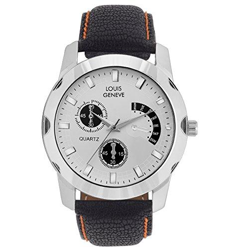 LOUIS GENEVE Analogue White Dial Men's Watch(LG-MW-B-WHITE-051)