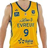 adidas Domicile Alm Evreux Basket 2017/2018 Maillot de Basketball Homme, Jaune, FR : 3XL (Taille Fabricant : 3XL)