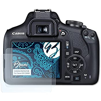 Bruni 2x Folie für Canon EOS 80D Schutzfolie Displayschutzfolie