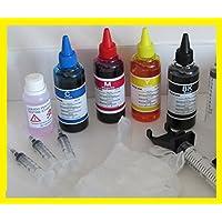 400 ml kit inchiostro compatibile per ricarica cartucce stampante hp ENVY 5536 e-All-in-One Printer (D4J86B) cartucce 301 nero e 301 colore