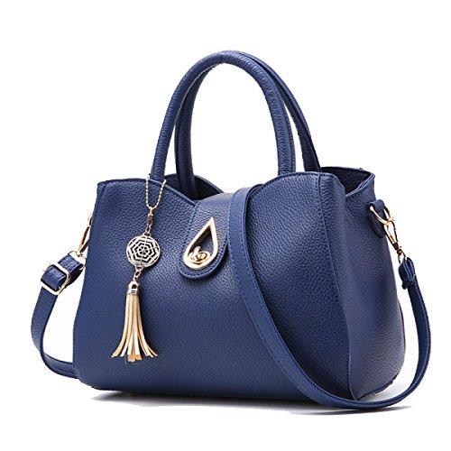 Handtasche Weibliche Trendy Schulter Messenger Bag Sapphireblue