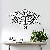 Adesivo da parete Adesivo murale bussola nautica per la camera dei bambini Decorazione della parete...