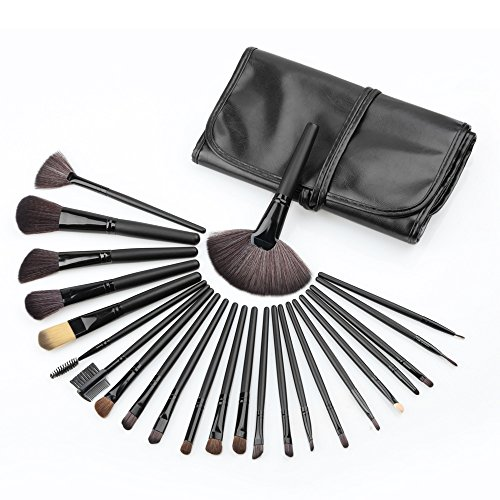 Professional 24 pcs/set Brosses - Pinceau de maquillage/Brosse de beauté cosmétique et maquillage Make-up brosse Brosse cosmétique (Noir)