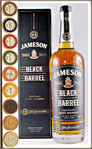 Jameson Black Barrel Irish Whiskey mit 9 DreiMeister Edel Schokoladen in 9 Geschmacksvariationen, kostenloser Versand