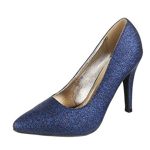 Ital-Design - Pantofole Donna Blu (blu)