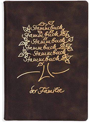 Stammbuch der Familie Leder Strea Familienstammbuch Hochzeit - Braune A5 Organizer