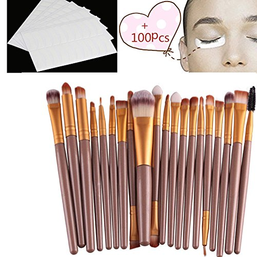 Pinceaux Maquillage, Makeup brushes set, Koly 20 Pcs Maquillage Outils Brush Set Maquillage Trousse De Toilette Laine Maquillage Brush Set