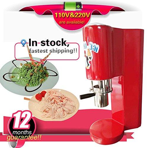 Yoli® Marke neuen italienischen Gelato Spaghetti Maschine CE Spaghetti-Eis Maschine Spaghetti Gelato Maker Italienische Nudeln Eis Maschine mit 4Form Ice Cream