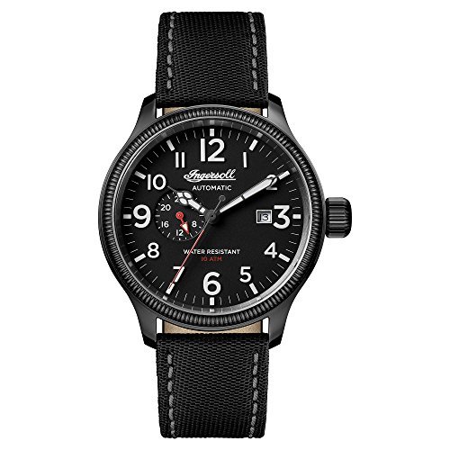Ingersoll Herren Analog Automatik Uhr mit Nylon Armband I02801