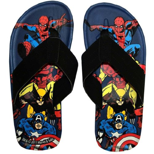 Marvel Comics Superheroes Men's Flip Flop Thong Sandals | XL (Herren Action-sport-schuhe)