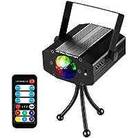 Discokugel LED Partylicht Disco Lichteffekte Discolicht mit Fernbedienung 7 Farbe RGB 360° Drehbares und Musiksteuerung