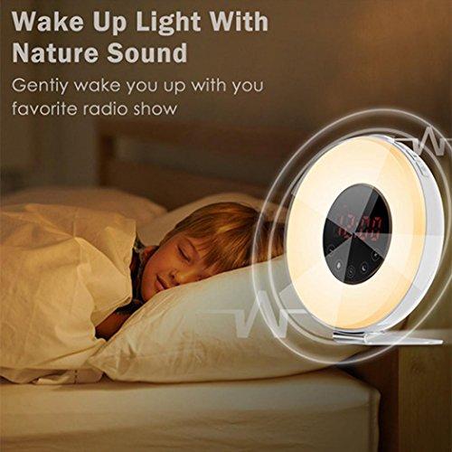 sunnymi Sonnenaufgang Alarm Uhr Berühre Das LED-Licht Wache Die Lichter Auf Wecker Simulation Schlaflicht
