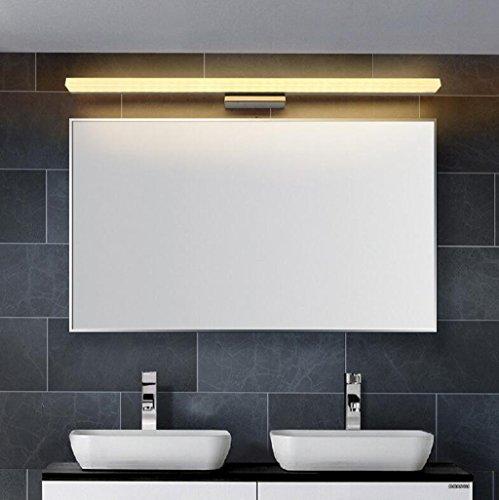 Lozse 16W LED Luminaire Salle de Bain Eclairage Salle de Bain Lumière Blanc Chaud AC90-240V Applique Murale Acier Inoxydable 120cm