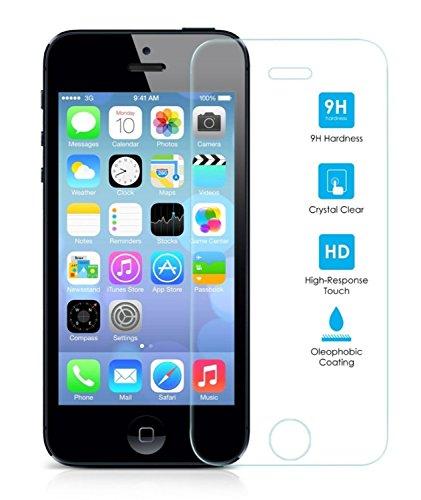 Protector-de-Pantalla-para-Iphone-55S5CSE-Cristal-Vidrio-Templado-Premium-Electrnica-Rey
