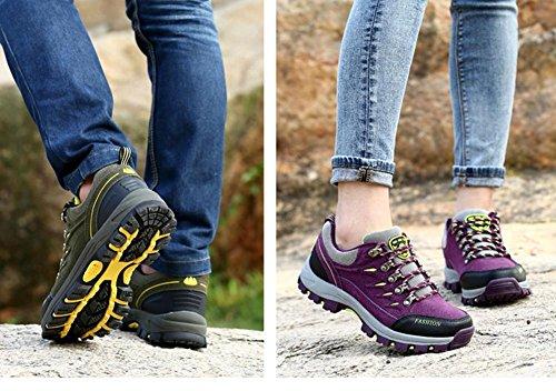 Suetar Hombres / Mujeres Zapatos De Senderismo De Moda Zapatillas De Deporte Al Aire Libre Resistente Al Agua Antideslizante Para Ir De Excursión Escalada Camping Brown