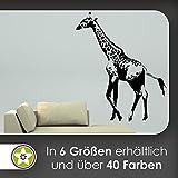 hauptsachebeklebt Kiwi Star Giraffa Africa Lungo Collana Adesivo da Parete Adesivo da Parete Wall Stickers-6Taglie, 40_Violett, 120 x 99 cm