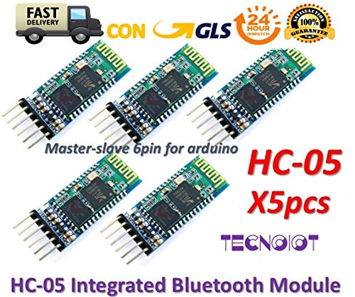 TECNOIOT 5pcs HC-05 Integrated Bluetooth Module Wireless Serial Port Module HC05 Haupt-batterie-schalter