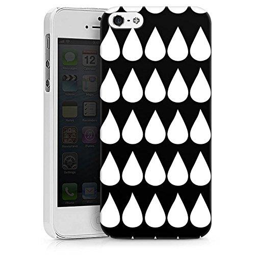Apple iPhone X Silikon Hülle Case Schutzhülle Schwarz Weiß Tropfen Muster Hard Case weiß