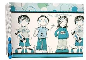 Panodia - Albums photos - Album Photo scolaire à coller Chipie Bleu + 1 pochette souvenir ! Album Photo Panodia