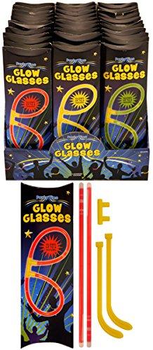 -Pack Glühen in den Dark- Glow Gläser-Sets, Glow Sticks Glosticks Glowsticks ()