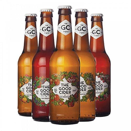 The Good Cider Probierpaket - Apfel, Birne, Waldbeere, Pfirsich, Erdbeer-Limette (5x0,33l)