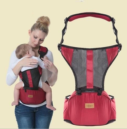 Generic Brown, OneSize : Mesh Fabric Breathable Baby Carrier 2...