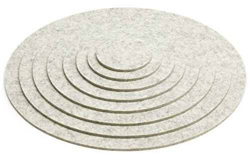 HEY-SIGN Untersetzer für Töpfe aus Natur-Filz Ø 25 cm marmor - Marmor-runde Untersetzer