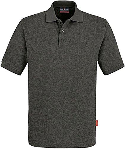 "HAKRO Polo-Shirt ""Performance"" - 816 - anthrazit/melange - Größe: XXL (Größentabelle Xxl)"